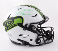 Russell Wilson Signed Seahawks Full-Size Authentic On-Field Lunar Eclipse Alternate SpeedFlex Helmet (Fanatics Hologram) at PristineAuction.com