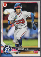 Ronald Acuna 2018 Bowman Prospects #BP1 RC at PristineAuction.com