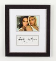 Kendall Jenner & Kylie Jenner Signed 11x13 Custom Framed Photo Display (JSA COA) (See Description) at PristineAuction.com