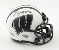 "Ron Dayne Signed Wisconsin Badgers Lunar Eclipse Alternate Speed Mini-Helmet Inscribed ""99H"" (Schwartz COA) at PristineAuction.com"