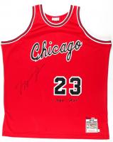 "Michael Jordan Signed LE Bulls ""1985 ROY"" Jersey #18/223 (UDA COA) at PristineAuction.com"