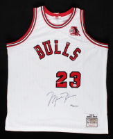 Michael Jordan Signed LE Authentic Mitchell & Ness 1984-85 Bulls Rookie Jersey with ROY Patch #84/123 (UDA COA) (See Description) at PristineAuction.com