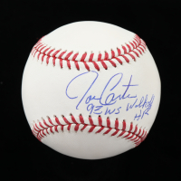"Joe Carter Signed OML Baseball Inscribed ""93 WS Walk Off HR"" (Schwartz Sports COA) at PristineAuction.com"