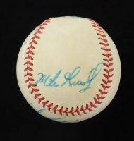 1980s Red Sox OAL Baseball Team-Signed by (5) with With Wade Boggs, Dwight Evans, Mike Greenwell, Jody Reed & Kevin Romine (JSA COA) at PristineAuction.com
