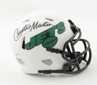 Curtis Martin Signed Jets Lunar Eclipse Alternate Speed Mini Helmet (Schwartz Sports COA) at PristineAuction.com