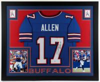 Josh Allen Signed Buffalo 35.5x43.75 Custom Framed Jersey Display (Beckett Hologram) at PristineAuction.com