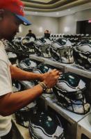 Jalen Hurts Signed Eagles Full-Size Authentic On-Field Speed Helmet (PSA COA & Denver Autographs COA) at PristineAuction.com
