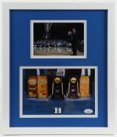 "Mike Krzyzewski Signed Duke Blue Devils 12.75x15 Custom Framed Photo Display Inscribed ""Go Duke!"" (JSA COA) at PristineAuction.com"