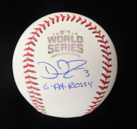 """David Ross Signed 2016 World Series Baseball Inscribed """"G-Pa Rossy"""" (Schwartz Sports COA) at PristineAuction.com"""