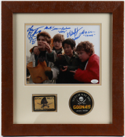 """""""The Goonies"""" 16.5x17.75 Custom Framed Photo Display Cast-Signed by (4) with Sean Astin, Jeff Cohen, Corey Feldman, & Ke Huy Quan with (4) Character Inscriptions (JSA COA) at PristineAuction.com"""