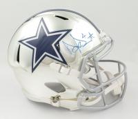 Dak Prescott Signed Cowboys Full-Size Chrome Speed Helmet (JSA COA & Denver Autographs COA) at PristineAuction.com