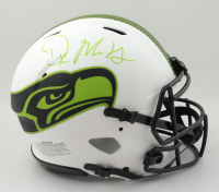 DK Metcalf Signed Seahawks Full-Size Authentic On-FIeld Lunar Eclipse Alternate Speed Helmet (Beckett COA & Denver Autographs COA) (See Description) at PristineAuction.com
