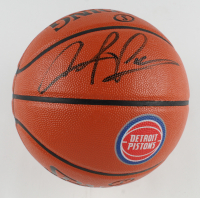 Dennis Rodman Signed Pistons Logo NBA Game Ball Series Basketball (JSA COA & Rodman Hologram) at PristineAuction.com