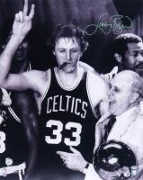 Larry Bird Signed Celtics 16x20 Photo (Schwartz COA & Bird Hologram) at PristineAuction.com