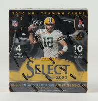 2020 Panini Select Football Trading Cards Mega Box with (10) Packs (See Description) at PristineAuction.com