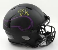 Justin Jefferson Signed Vikings Full-Size Authentic On-Field Eclipse Alternate Speed Helmet (Beckett Hologram & Denver Autographs COA) at PristineAuction.com