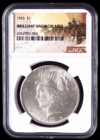1925 $1 Peace Silver Dollar (NGC Brilliant Uncirculated) at PristineAuction.com