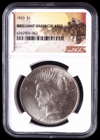 1923 $1 Peace Silver Dollar (NGC Brilliant Uncirculated) at PristineAuction.com