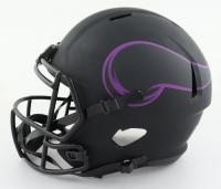 """Vikings """"Purple People Eaters"""" Full-Size Eclipse Alternate Speed Helmet Signed by (4) with Carl Eller, Alan Page, Gary Larsen & Jim Marshall (Beckett COA) (See Description) at PristineAuction.com"""