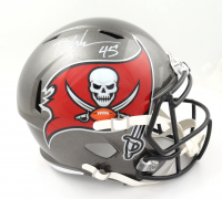 Devin White Signed Buccaneers Full-Size Speed Helmet (Beckett COA) at PristineAuction.com