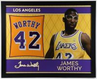 James Worthy Signed 35x43 Custom Framed Jersey (Beckett Hologram) at PristineAuction.com