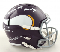 """Vikings """"Purple People Eaters"""" Full-Size Speed Helmet Signed by (4) with Carl Eller, Alan Page, Gary Larsen & Jim Marshall (Beckett COA) at PristineAuction.com"""