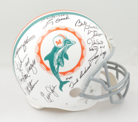1972 Dolphins Full-Size Authentic On-Field Helmet Team-Signed by (26) with Larry Csonka, Bob Griese, Don Shula, Mercury Morris (JSA COA & Denver Autographs COA) at PristineAuction.com