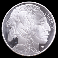 Buffalo Round 1 Troy Ounce .999 Silver Coin at PristineAuction.com