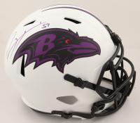 Ray Lewis Signed Ravens Lunar Eclipse Alternate Speed Mini Helmet (Beckett COA & Denver Autographs COA) (See Description) at PristineAuction.com