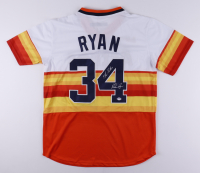"""Nolan Ryan Signed Astros Jersey Inscribed """"7 No-Hitters"""" (PSA COA) at PristineAuction.com"""