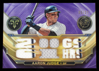 Aaron Judge 2019 Topps Triple Threads Relics Amethyst #TTRAJ #5/27 at PristineAuction.com