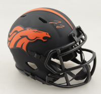 Jerry Jeudy Signed Broncos Eclipse Alternate Speed Mini-Helmet (JSA COA) at PristineAuction.com