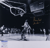 """Jerry West Signed Lakers 16x20 Photo Inscribed """"The Shot"""" (PSA COA) at PristineAuction.com"""