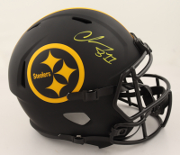 Chase Claypool Signed Steelers Full-Size Eclipse Alternate Speed Helmet (Beckett COA & Denver Autographs COA) (See Description) at PristineAuction.com