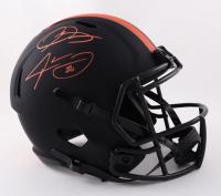 Odell Beckham Jr. & Jarvis Landry Signed Browns Full-Size Eclipse Alternate Speed Helmet (Beckett Hologram) at PristineAuction.com