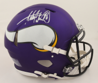Adrian Peterson Signed Vikings Full-Size Authentic On-Field Speed Helmet (Beckett COA & Denver Autographs COA) (See Description) at PristineAuction.com
