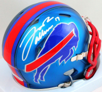 Josh Allen Signed Bills Blaze Alternate Speed Mini Helmet (Beckett COA) at PristineAuction.com
