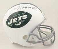 Joe Namath Signed Jets Full-Size Helmet (JSA COA & Denver Autographs COA) (See Description) at PristineAuction.com