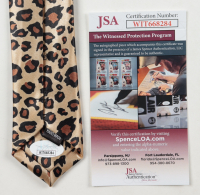 """Jimmy Hart Signed Neck Tie Inscribed """"Mouth of the South"""" & """"2005 HOF"""" (JSA COA) at PristineAuction.com"""