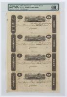 1810's Ohio, Cincinnati Uncut Sheet $1 / $2 / $3 / $5 Note (PMG 66 Gem Unc EPQ) at PristineAuction.com