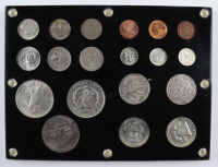 20th Century Type Set of (19) United States Coins In Capitol Display at PristineAuction.com