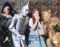 """""""The Wizard of Oz"""" 11x14 Photo Signed by (4) with Mickey Carroll, Donna Stewart Hardway, Karl Slover, & Jerry Maren with Multiple Inscriptions (JSA COA) at PristineAuction.com"""