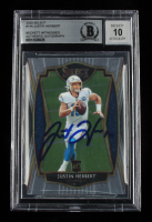Justin Herbert Signed 2020 Select #144 (BGS Encapsulated) at PristineAuction.com