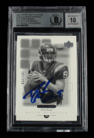 Drew Brees Signed 2001 Upper Deck Ovation Black and White Rookies #137 #101/250 (BGS Encapsulated) at PristineAuction.com