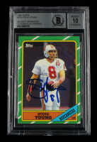 Steve Young Signed 1986 Topps #374 RC (BGS Encapsulated) at PristineAuction.com
