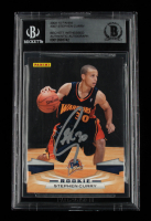 Stephen Curry Signed 2009-10 Panini #307 RC (BGS Encapsulated) at PristineAuction.com
