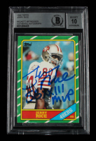 """Jerry Rice Signed 1986 Topps #161 RC Inscribed """"SB XXIII MVP"""" (BGS Encapsulated) at PristineAuction.com"""