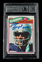 """Steve Largent Signed 1977 Topps #177 RC Inscribed """"HOF '95"""" (BGS Encapsulated) at PristineAuction.com"""