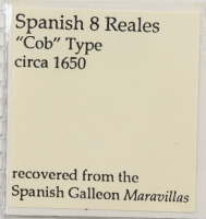 Maravillas Shipwreck Spanish Colonial 4 Reales Silver Cob Coin, Mexico Mint with COA at PristineAuction.com