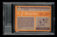 """Orenthal James Simpson Signed 1970 Topps #90 RC Inscribed """"HOF 85"""" (BGS Encapsulated) at PristineAuction.com"""